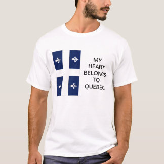 My Heart Belongs To Quebec Flag T-shirt