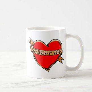 My heart belongs to sasquatch coffee mug