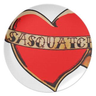 My heart belongs to sasquatch plate