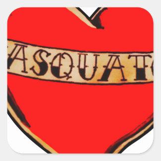 My heart belongs to sasquatch square sticker