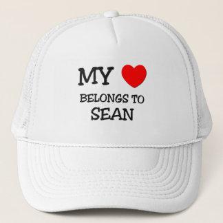 My Heart Belongs to Sean Trucker Hat