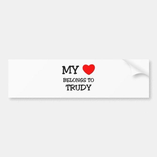 My Heart Belongs To TRUDY Bumper Sticker