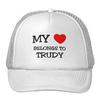 My Heart Belongs To TRUDY Trucker Hat