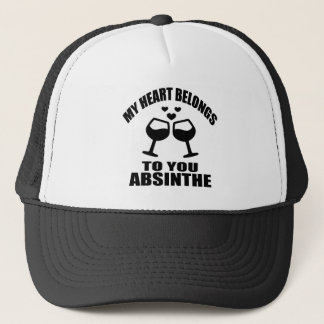 MY HEART BELONGS TO YOU ABSINTHE TRUCKER HAT
