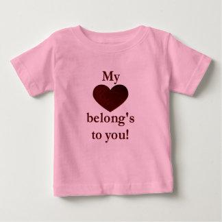 My heart belongs to you tee shirts