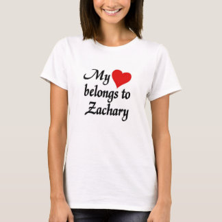 My heart belongs to zachary T-Shirt