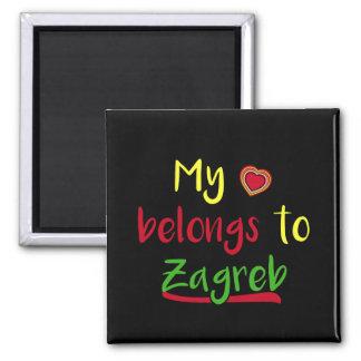 My heart belongs to Zagreb Croatian Magnet