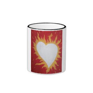 My Heart Burns For You Ringer Coffee Mug