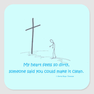 my heart feels so dirty square stickers