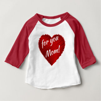 My Heart for you mom girl tshirt