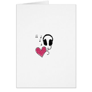 My Heart Goes to Music Greeting Card