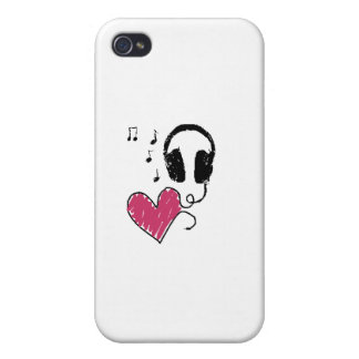 My Heart Goes to Music iPhone 4 Covers