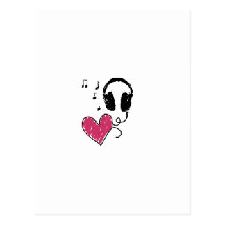 My Heart Goes to Music Postcard