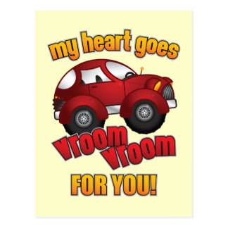 My Heart Goes Vroom Vroom For You! Postcard