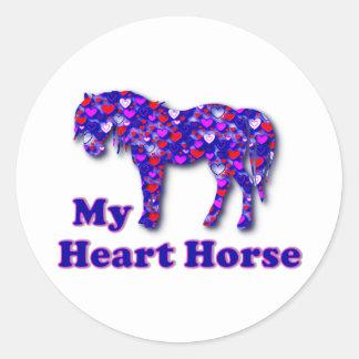 My Heart Horse Classic Round Sticker
