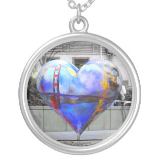 My Heart in San Francisco Silver Plated Necklace