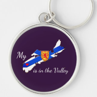 My Heart in valley Nova Scotia key chain purple