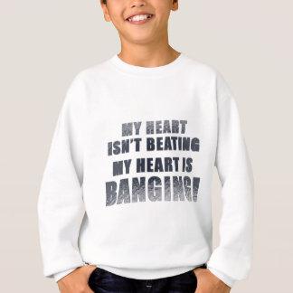 My heart is banging heavy metal ecg sweatshirt