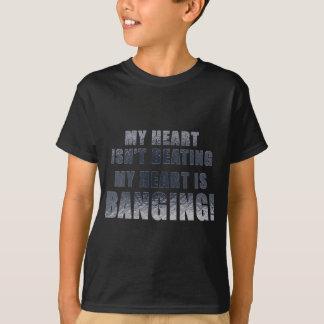 My heart is banging heavy metal ecg T-Shirt