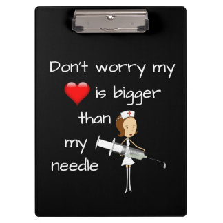 My Heart is Bigger than my Needle Clipboard
