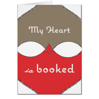My heart is booked card