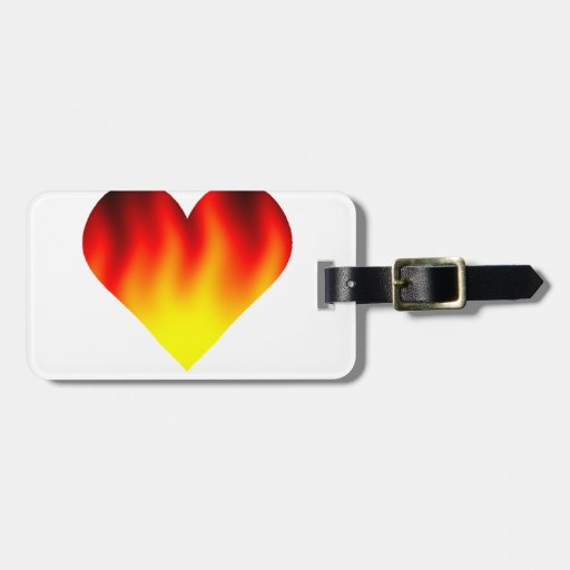 My Heart Is Burning Travel Bag Tag