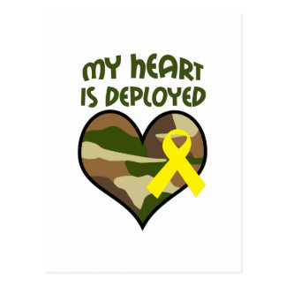 MY HEART IS DEPLOYED POSTCARD