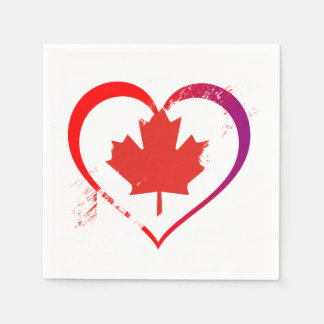My Heart Is Home Canada Day Party Paper Napkins