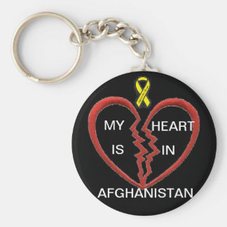 My heart is in Afghanistan Keychain