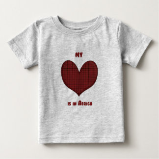 My Heart is in Africa Baby T-Shirt