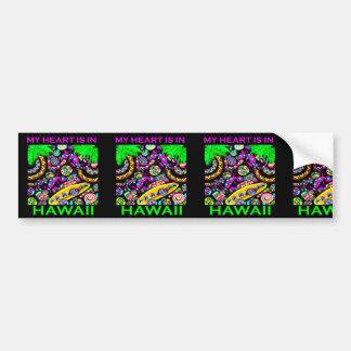 MY HEART IS IN HAWAII BUMPER STICKER