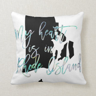 My Heart is in Rhode Island state RI Iridescent Throw Pillow