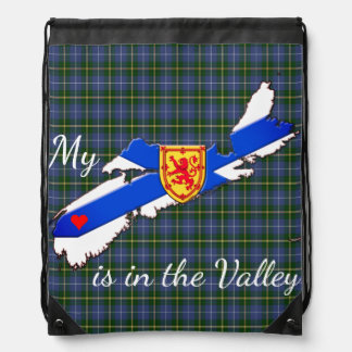 My Heart is in the valley N.S. drawstring Bag