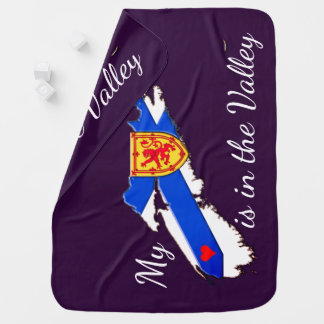 My Heart is in the valley  N.S. Receiving Blanket