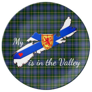 My Heart is in the valley Nova Scotia decor plate