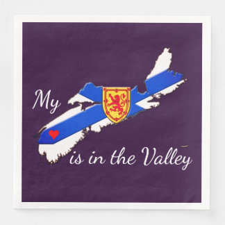 My Heart is in the valley Nova Scotia napkins Disposable Napkins