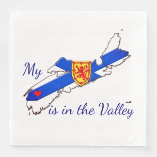My Heart is in the valley Nova Scotia napkins Paper Napkin