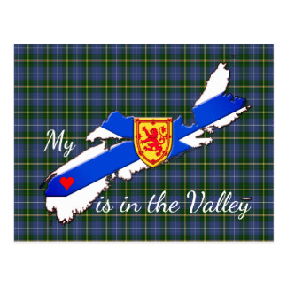 My Heart is in the valley Nova Scotia post card