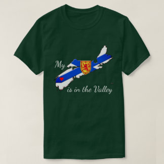 My Heart is in the valley Nova Scotia Shirt green