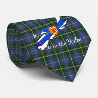 My Heart is in the valley Nova Scotia tie tartan