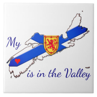 My Heart is in the valley Nova Scotia tile