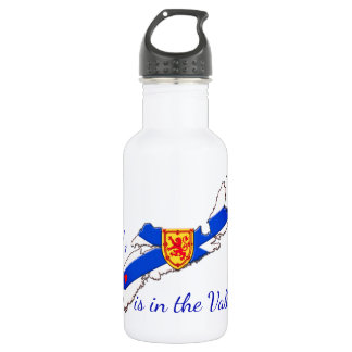 My Heart is in the valley Nova Scotia water bottle