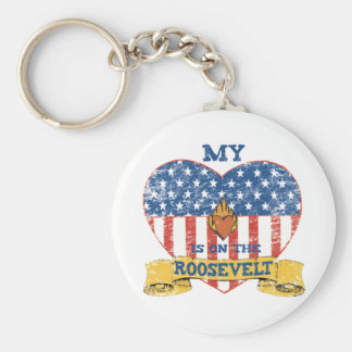 My Heart is on the Roosevelt Keychain