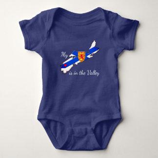 My Heart is the valley Nova Scotia baby shirt