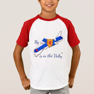 My Heart is the valley Nova Scotia baby shirt red