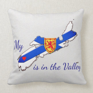 My Heart is  the valley Nova Scotia  pillow