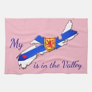 My Heart is the valley Nova Scotia  towel pink