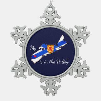 My Heart is the valley Nova Scotia tree ornament
