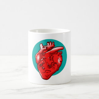 my heart is tired and broken funny cartoon coffee mug