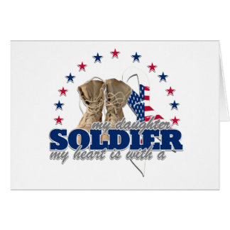 my heart is with a soldier my daughter card